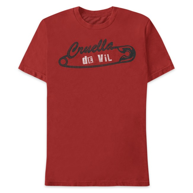 Cruella Safety Pin Logo T-Shirt for Adults – Live Action