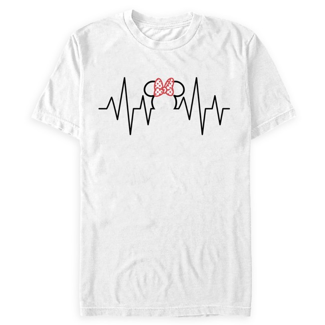 Minnie Mouse Icon EKG T-Shirt for Adults