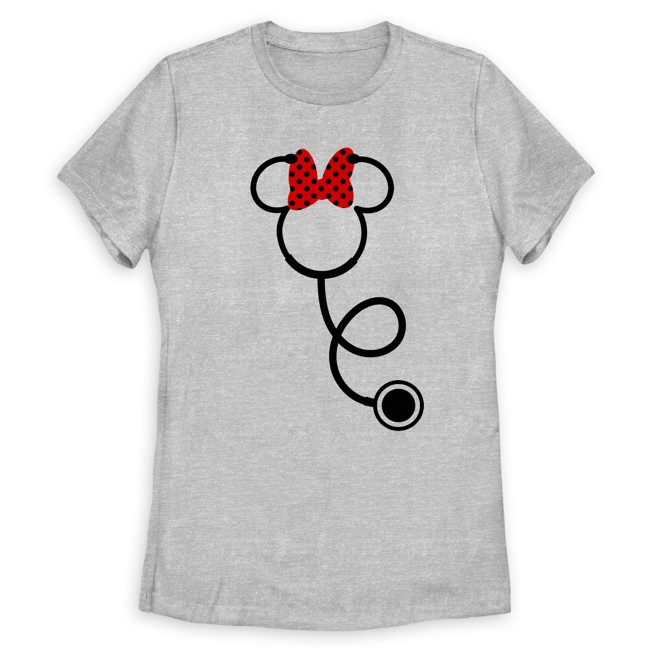 Minnie Mouse Icon Stethoscope T-Shirt for Women