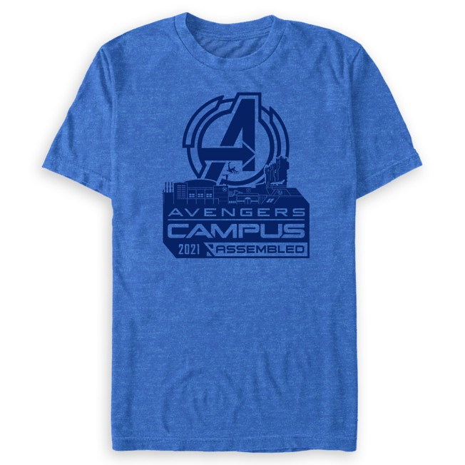 Avengers Campus Buildings T-Shirt for Adults