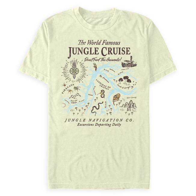 The World Famous Jungle Cruise Map T-Shirt for Adults – Jungle Cruise Film