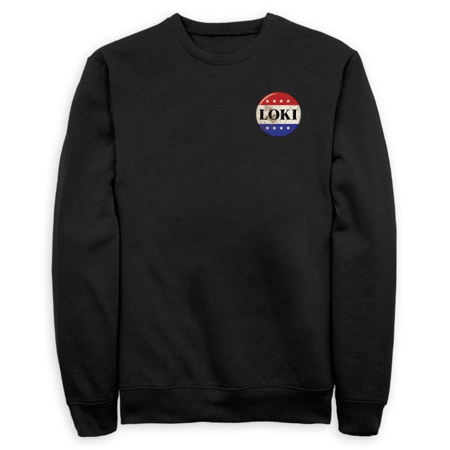 Loki Campaign Button Pullover Sweatshirt for Adults