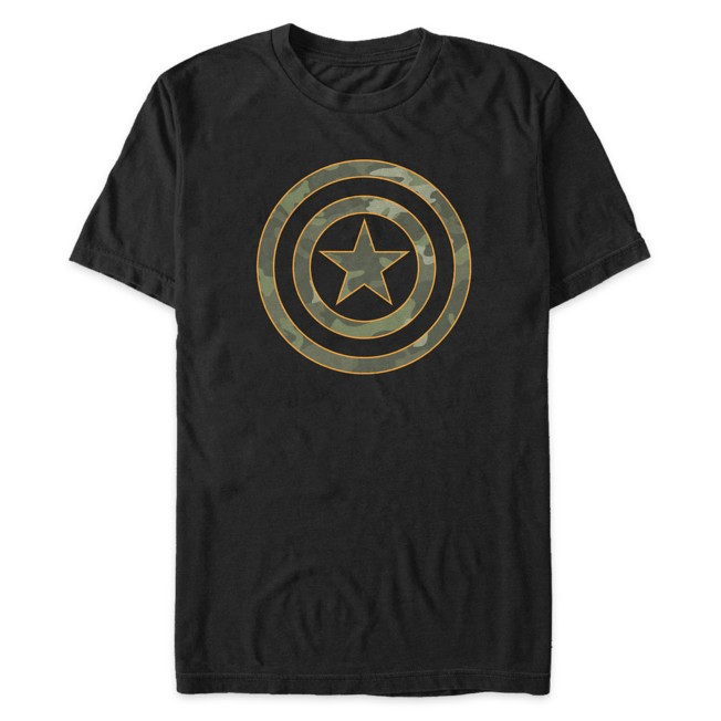 Captain America Shield Camouflage T-Shirt for Adults