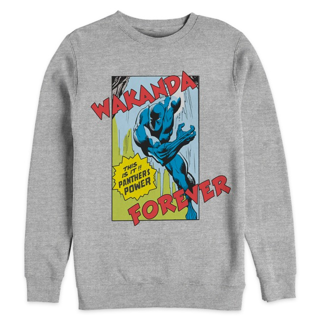 Black Panther ''Wakanda Forever'' Pullover Fleece Top for Adults