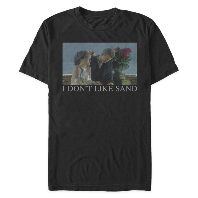 Padmé and Anakin ''I Don't Like Sand'' T-Shirt for Adults – Star Wars