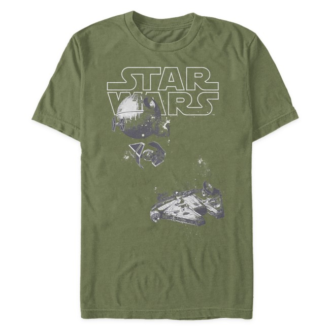 Millennium Falcon, TIE Fighter, Death Star T-Shirt for Adults – Star Wars