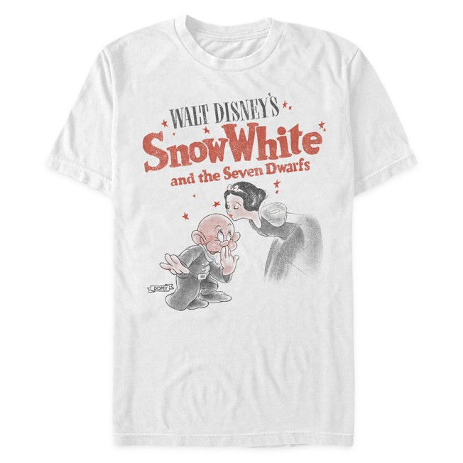 Snow White and Dopey T-Shirt for Adults