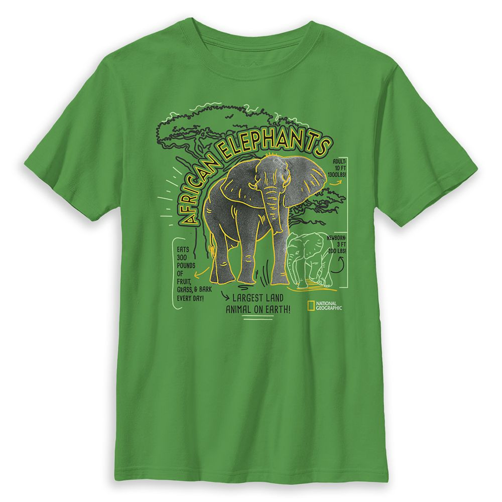 African Elephants T-Shirt for Kids – National Geographic