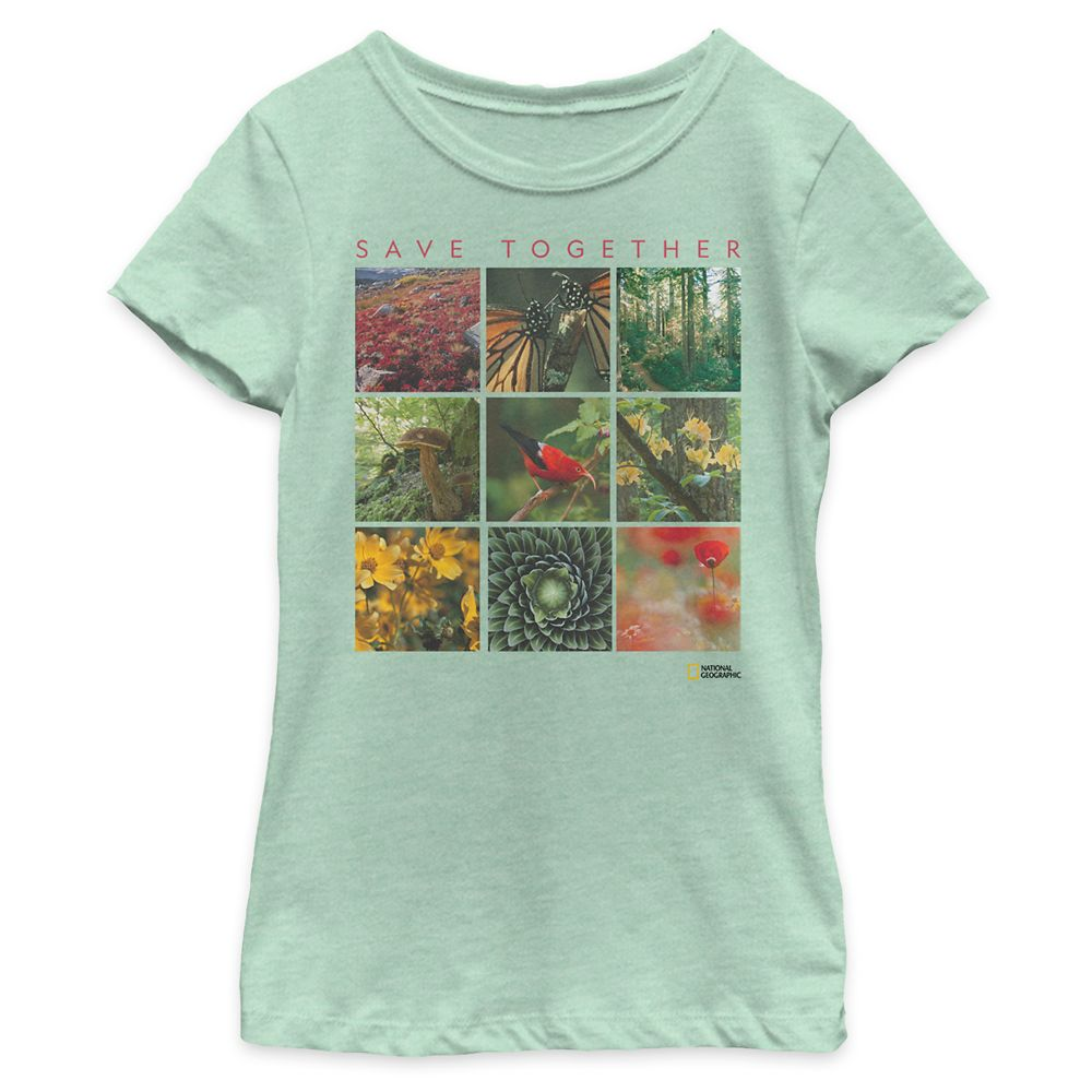 ''Save Together'' Nature Collage T-Shirt for Girls – National Geographic