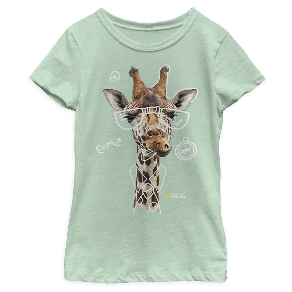 National Geographic Nerdy Giraffe T-Shirt for Girls