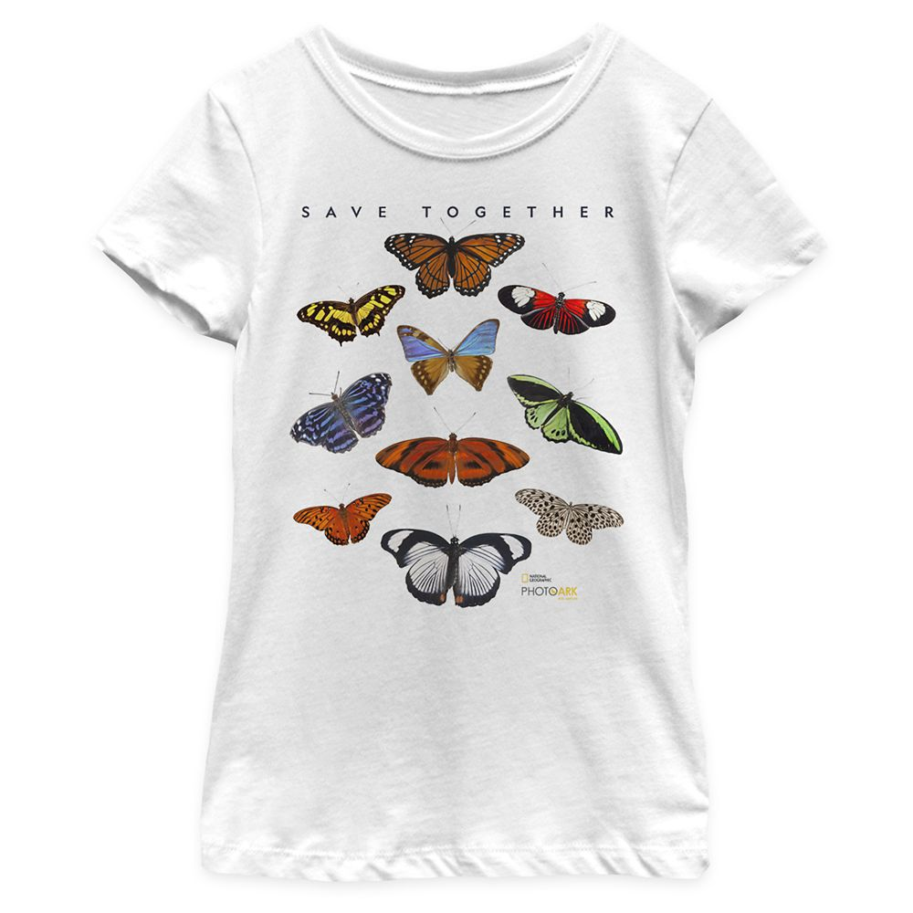 National Geographic Butterfly T-Shirt for Girls