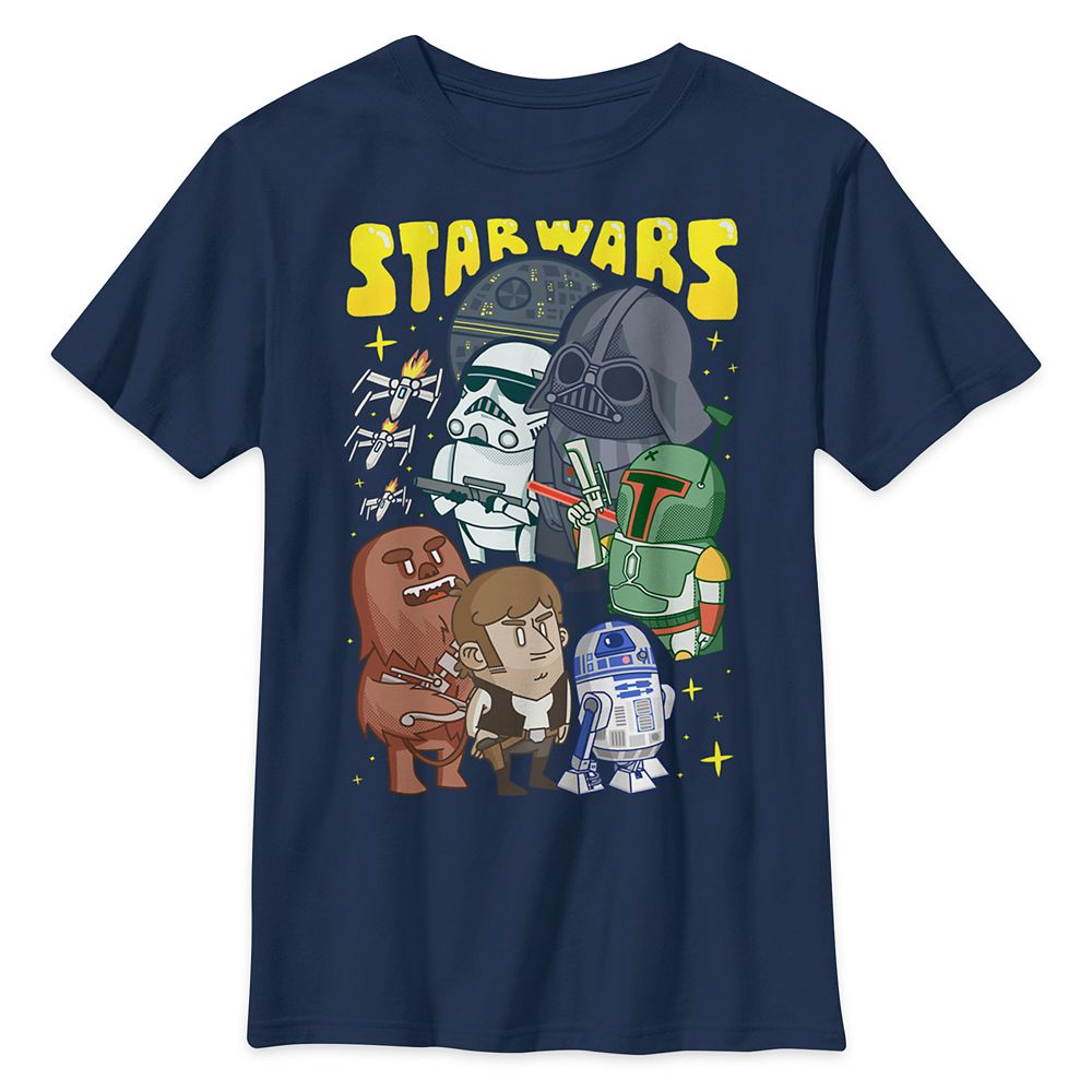 Star Wars: The Empire Strikes Back Cartoon Style T-Shirt for Kids