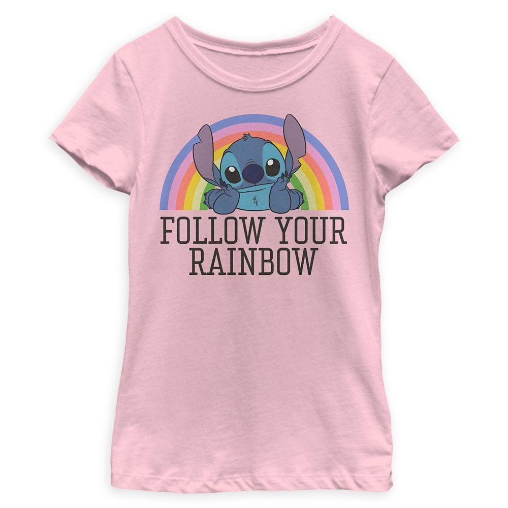 Stitch Rainbow T-Shirt for Kids