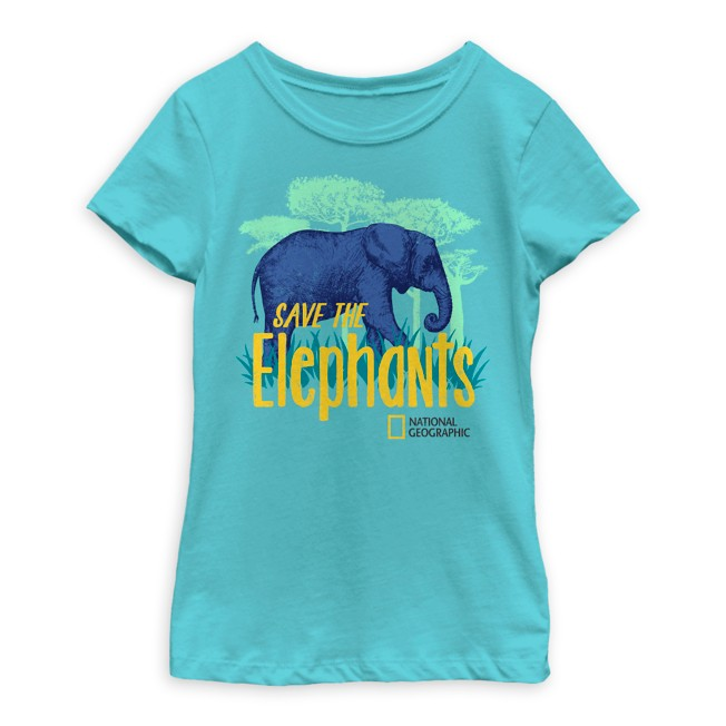 National Geographic ''Save the Elephants'' T-Shirt for Girls