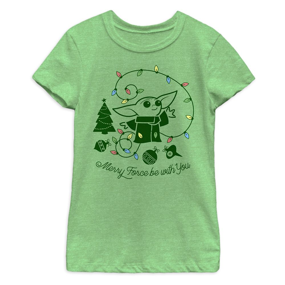The Child ''Merry Force Be With You'' T-Shirt for Girls