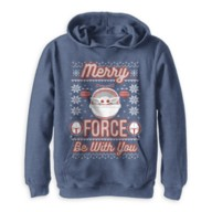 The Child ''Merry Force Be With You'' Pullover Hoodie for Kids