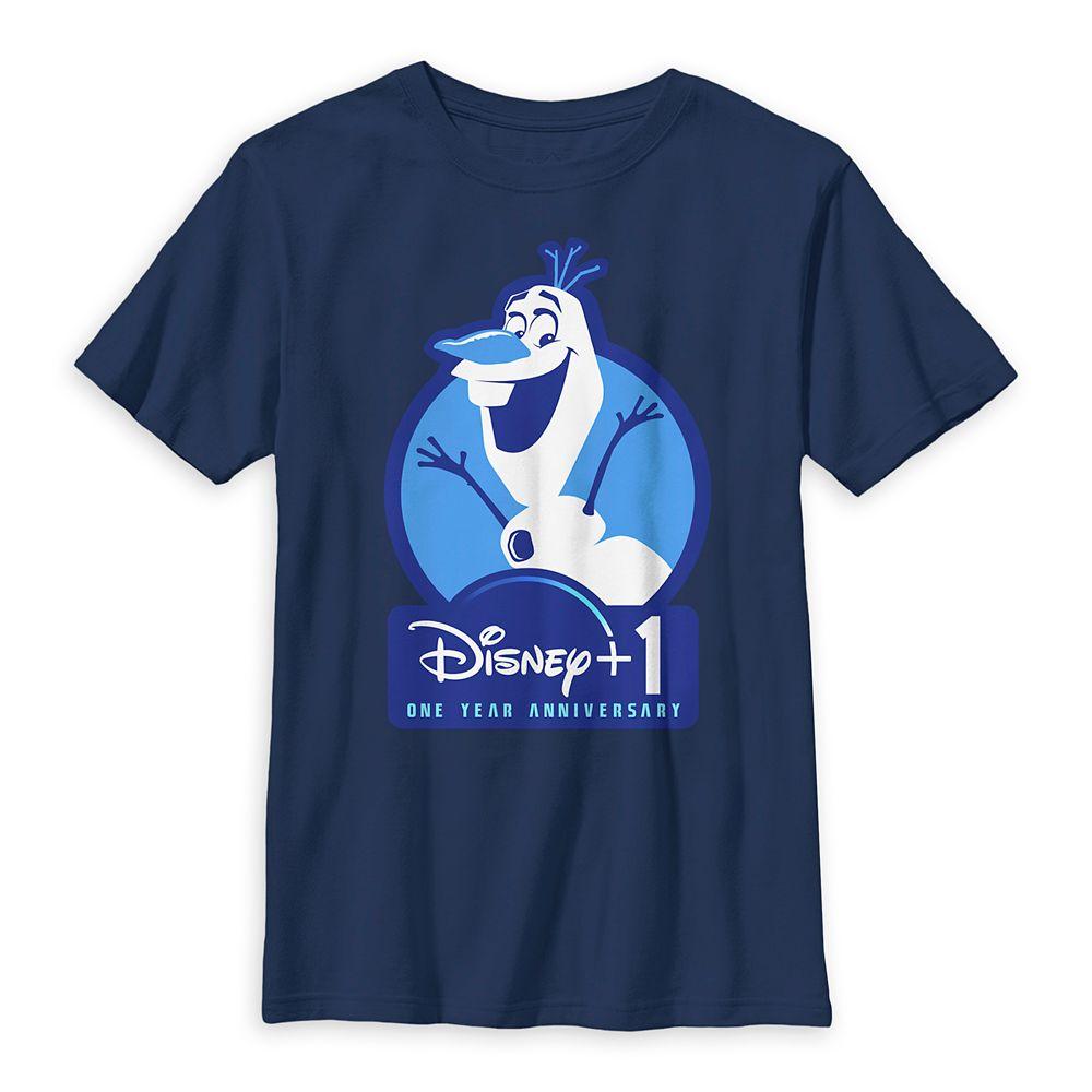Olaf Disney+ One Year Anniversary T-Shirt for Kids – Disney