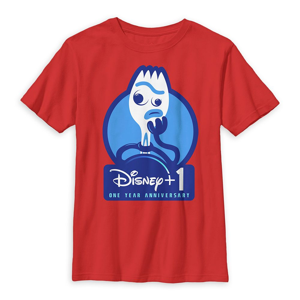Forky Disney+ One Year Anniversary T-Shirt for Kids – Pixar