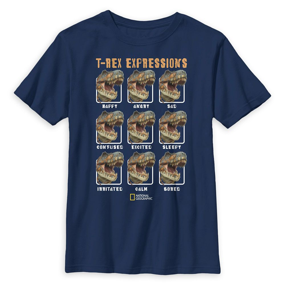 National Geographic ''T-Rex Expressions'' T-Shirt for Kids
