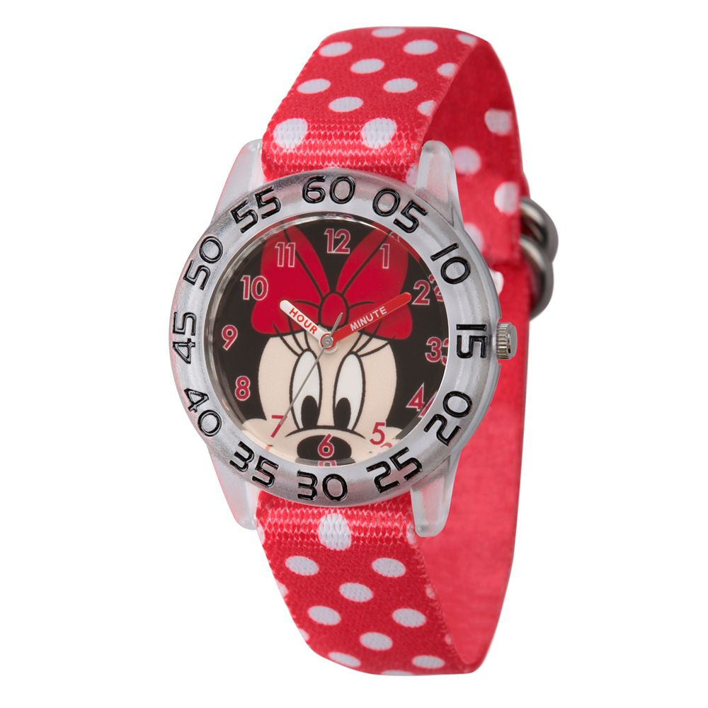 Minnie Mouse Polka Dot Time Teacher Watch – Kids
