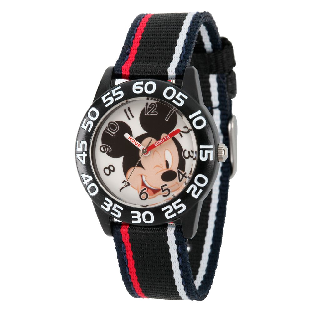 Mickey Mouse Striped Time Teacher Watch – Kids