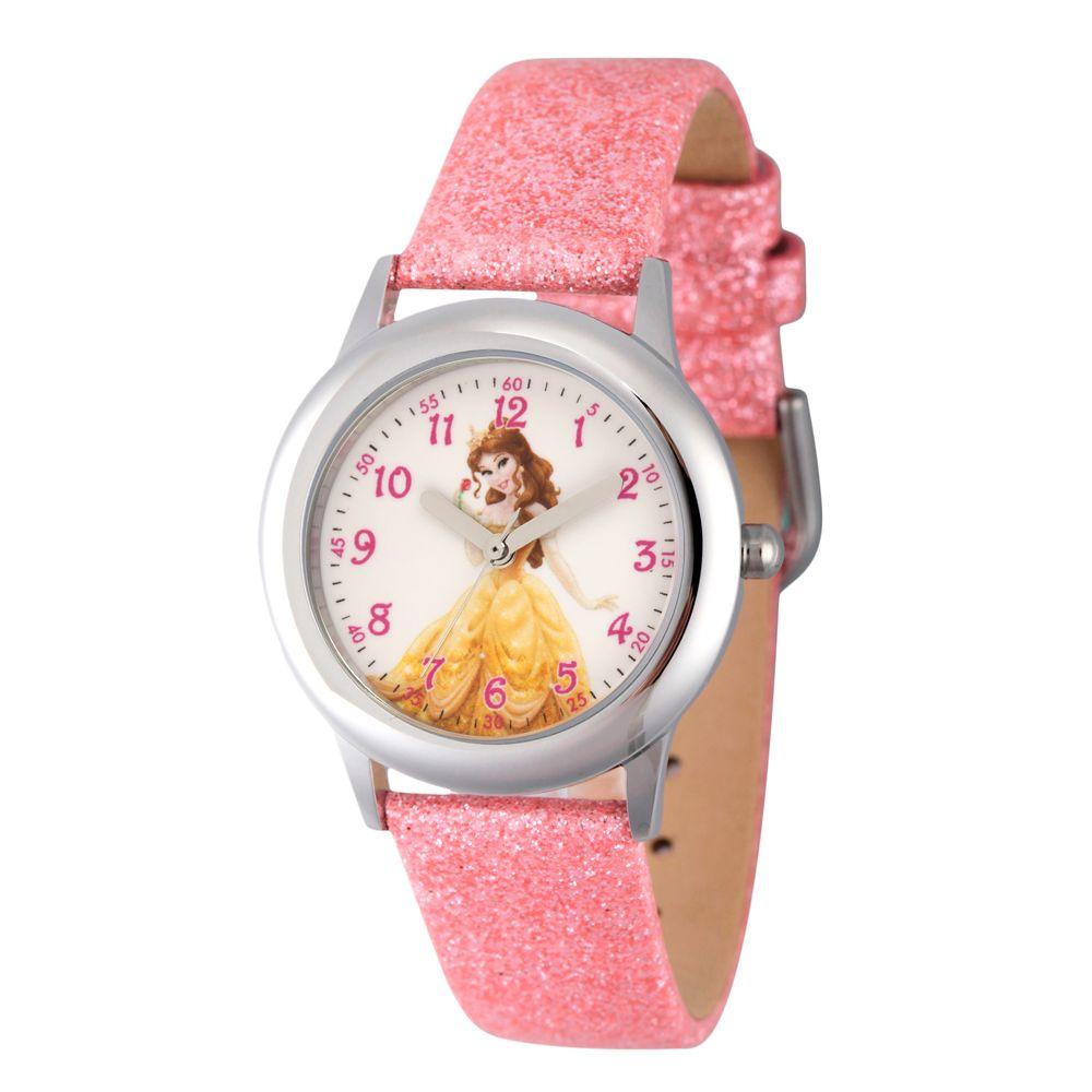 Belle Glitter Time Teacher Watch  Kids Official shopDisney