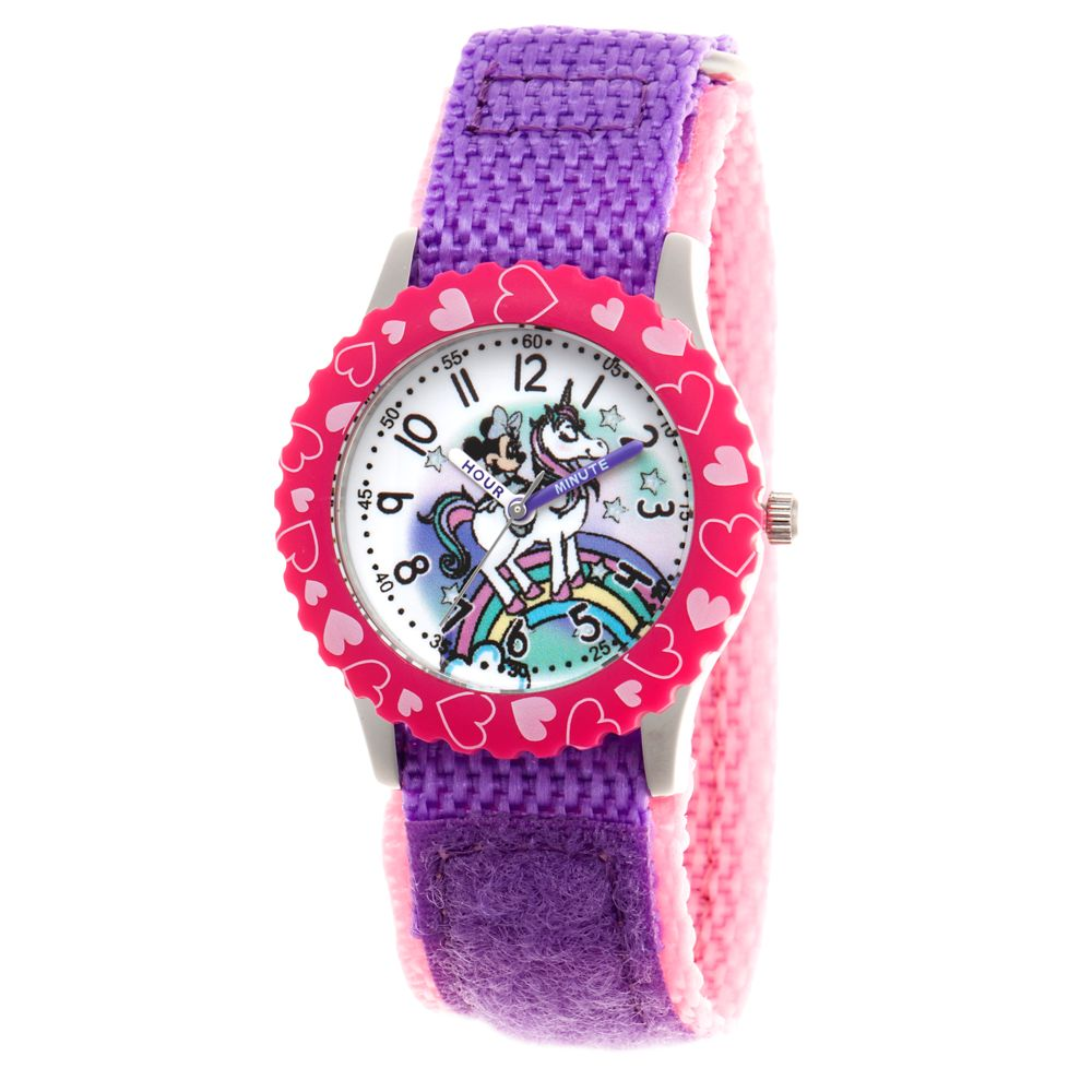 Minnie Mouse Unicorn Time Teacher Watch for Kids