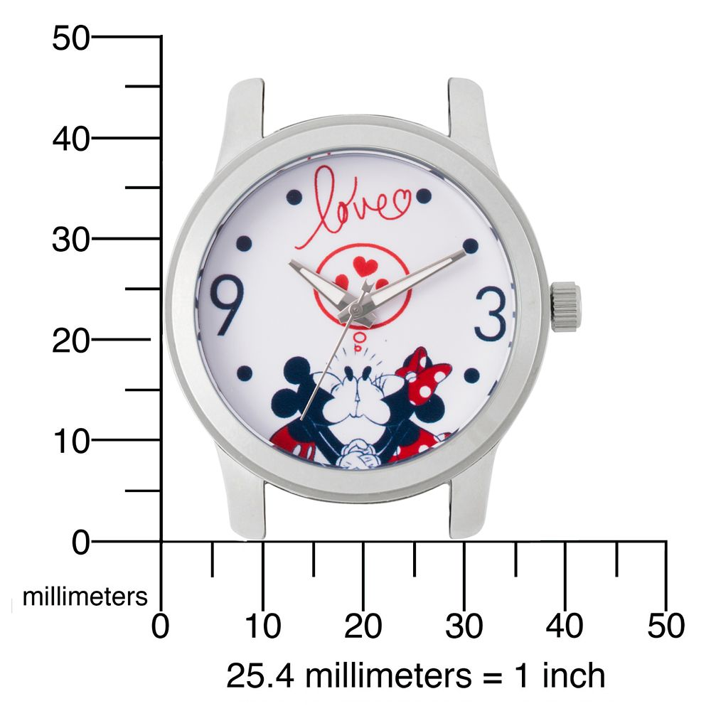 Mickey and Minnie Mouse Polka Dot Watch for Women