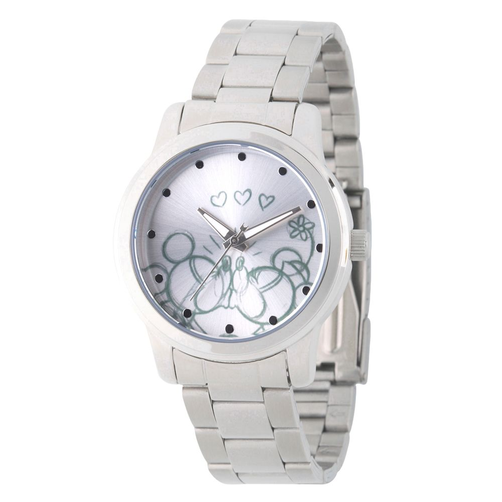 Mickey and Minnie Mouse Stainless Steel Watch for Women