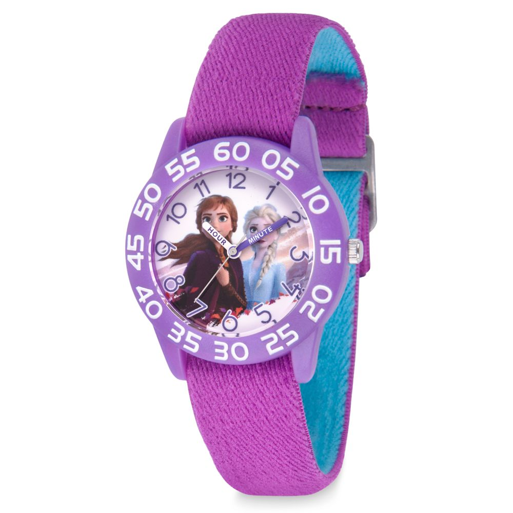 Anna and Elsa Time Teacher Watch for Kids – Frozen 2 – Reversible Band