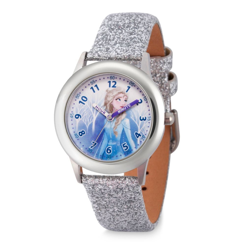 Elsa Stainless Steel Time Teacher Watch for Kids – Frozen 2