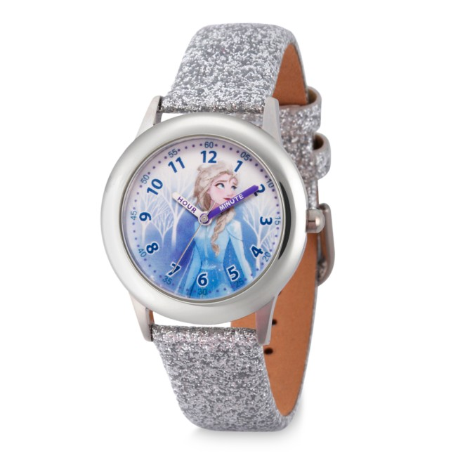Elsa Stainless Steel Time Teacher Watch for Kids – Frozen 2