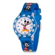 Mickey Mouse Time Teacher Watch for Kids – Print Band