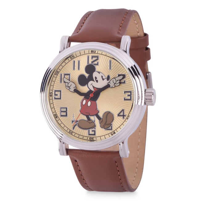 Mickey Mouse Vintage-Style Silver Alloy Watch for Men