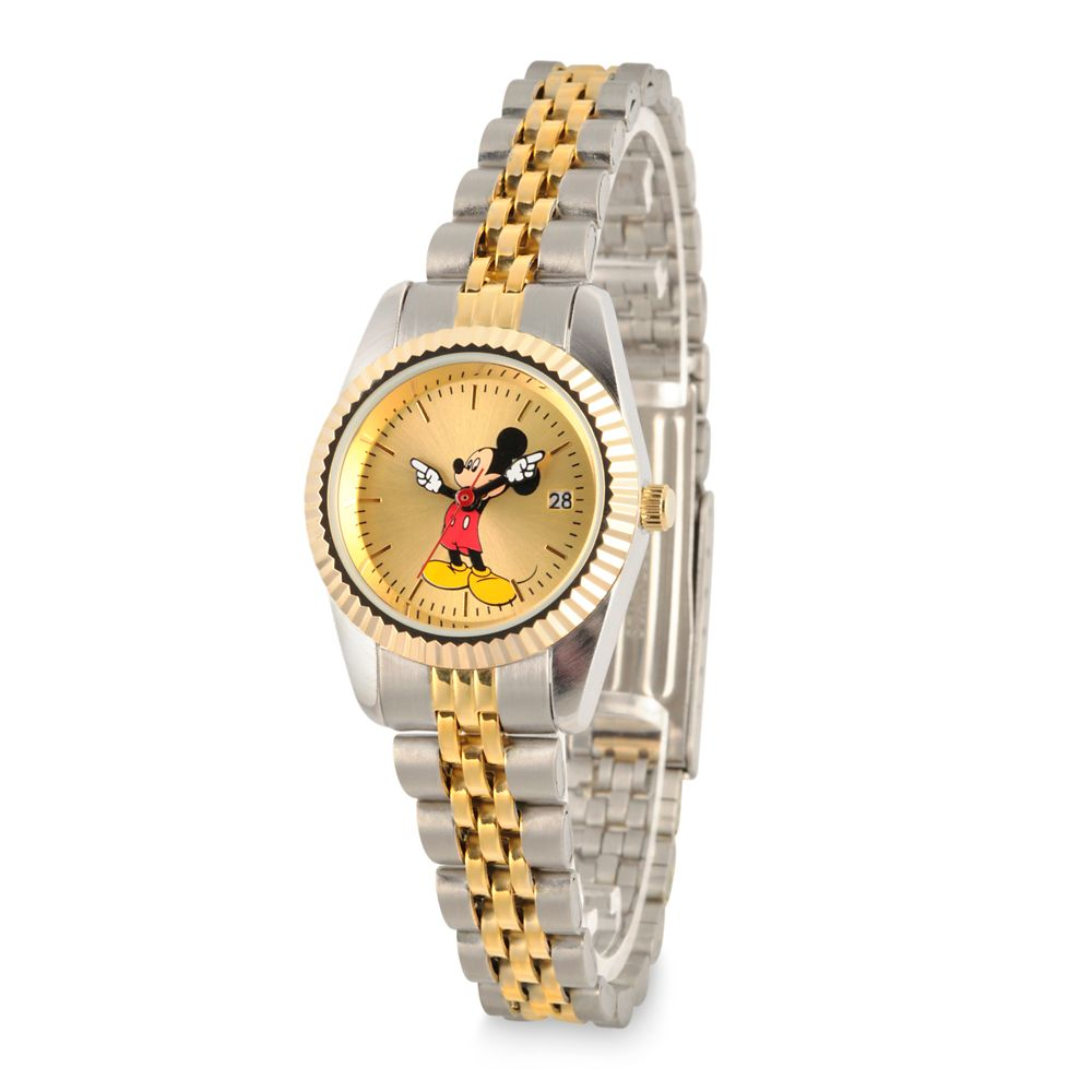 Mickey Mouse Two-Tone Alloy Watch for Women
