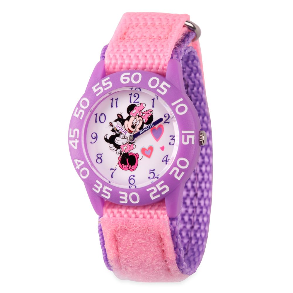 Minnie Mouse and Figaro Time Teacher Watch for Kids