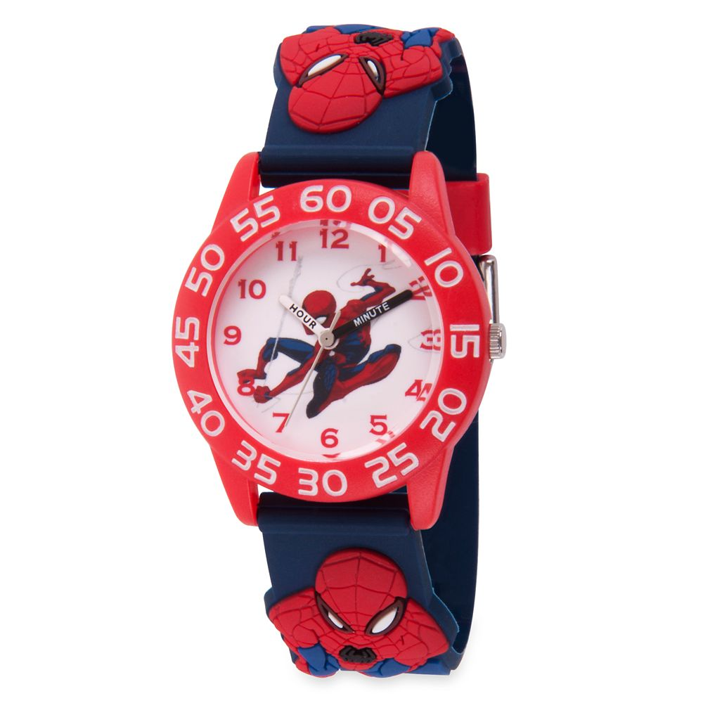 Spider-Man Time Teacher Watch for Kids – 3D Band