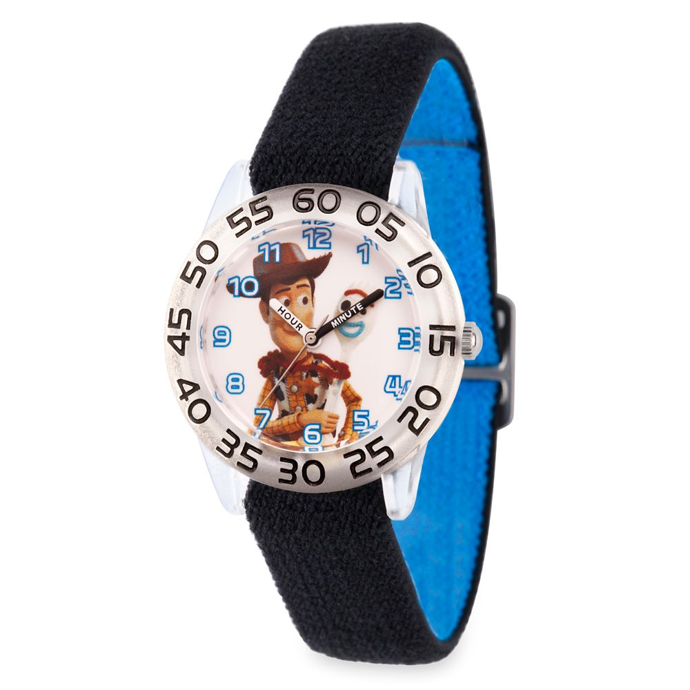 Woody and Forky Time Teacher Watch for Kids – Toy Story 4 – Reversible Band