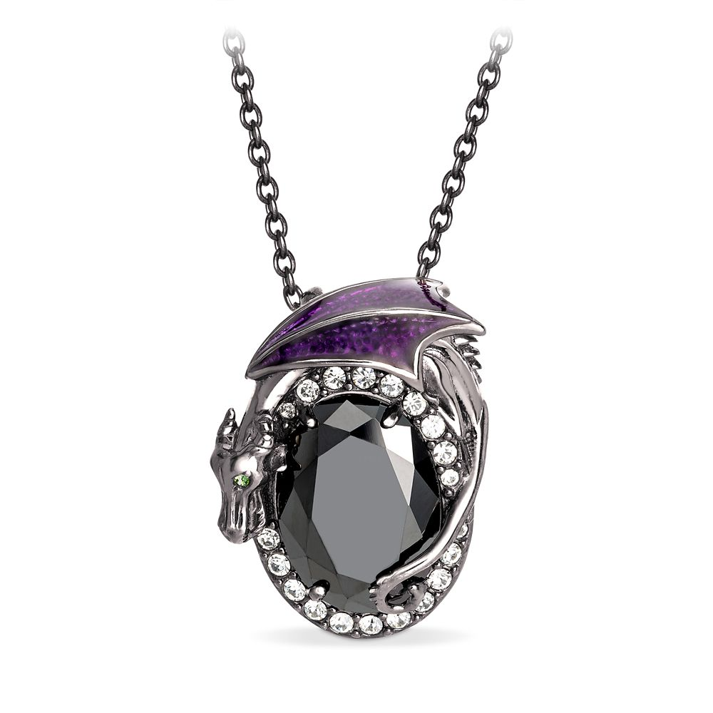 Maleficent Oval Crystal Pendant by RockLove