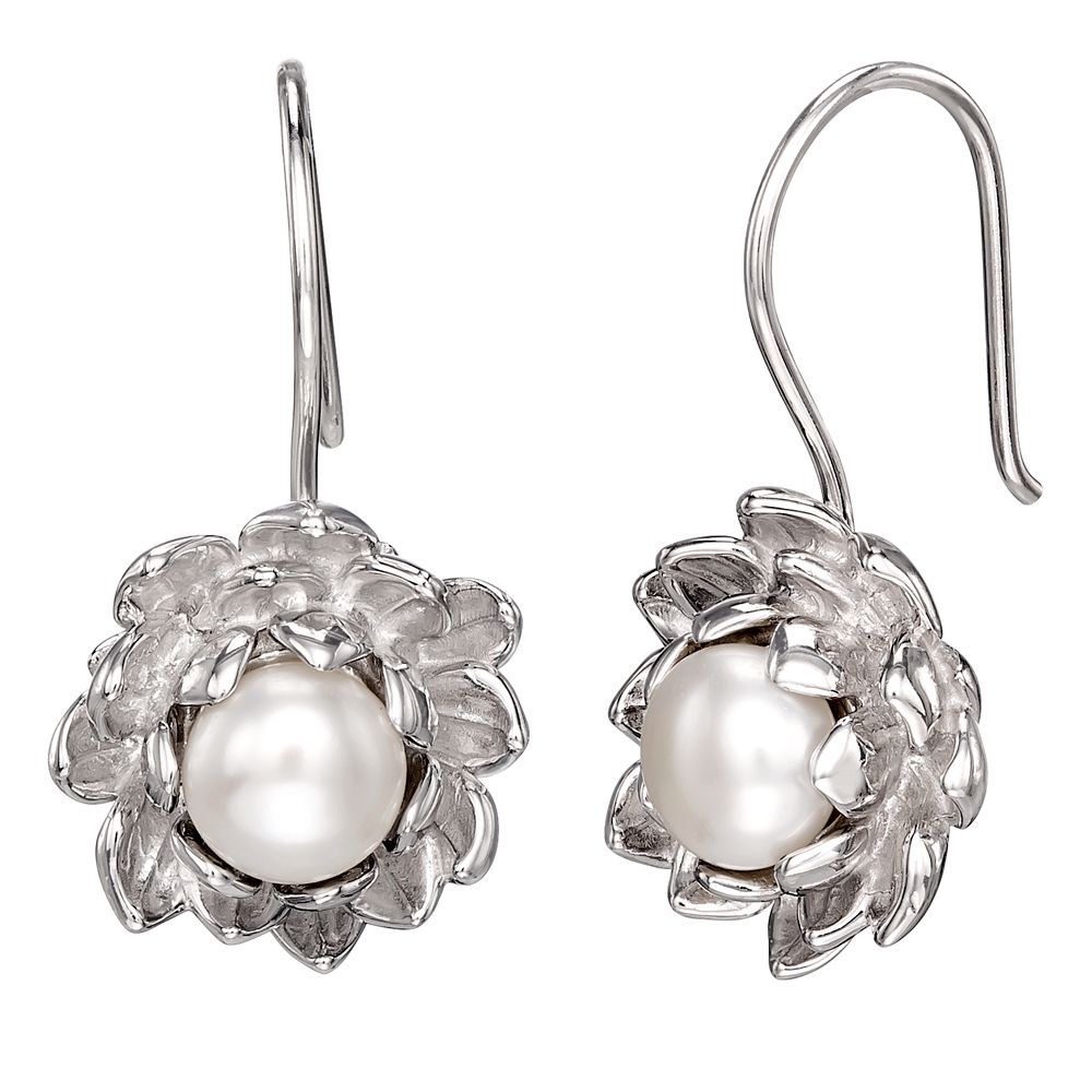 The Princess and the Frog Water Lily Pearl Earrings by RockLove