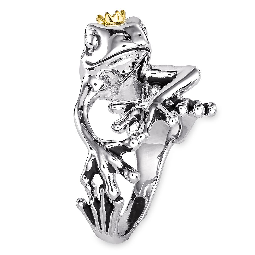 The Princess and the Frog Crowned Frog Ring by RockLove