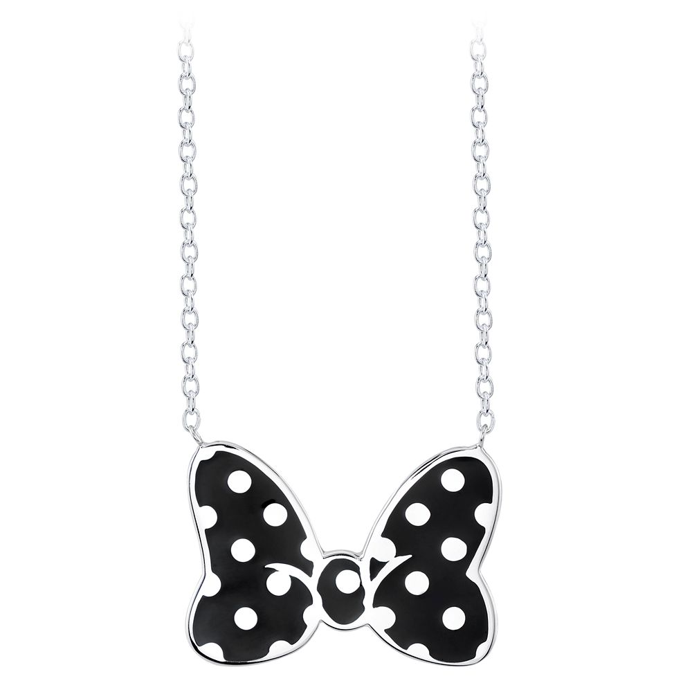 Minnie Mouse Black Bow Necklace by RockLove