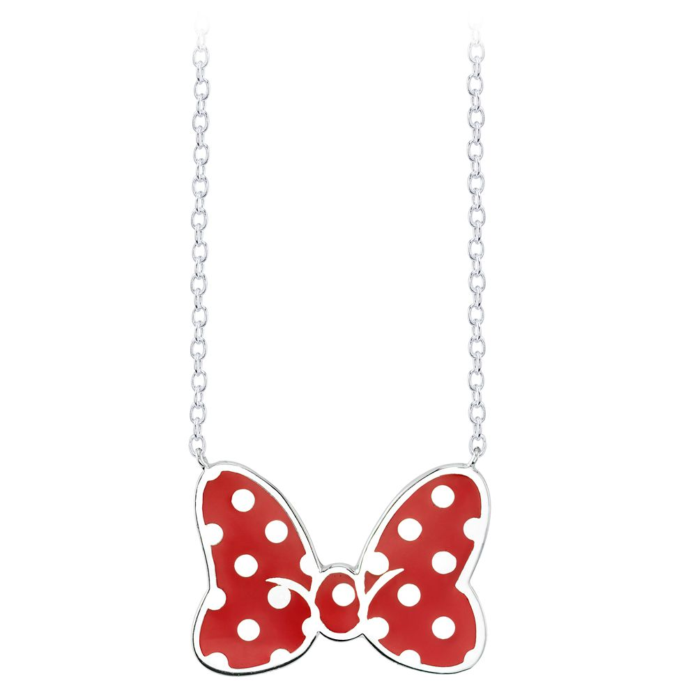 Minnie Mouse Red Bow Necklace by RockLove