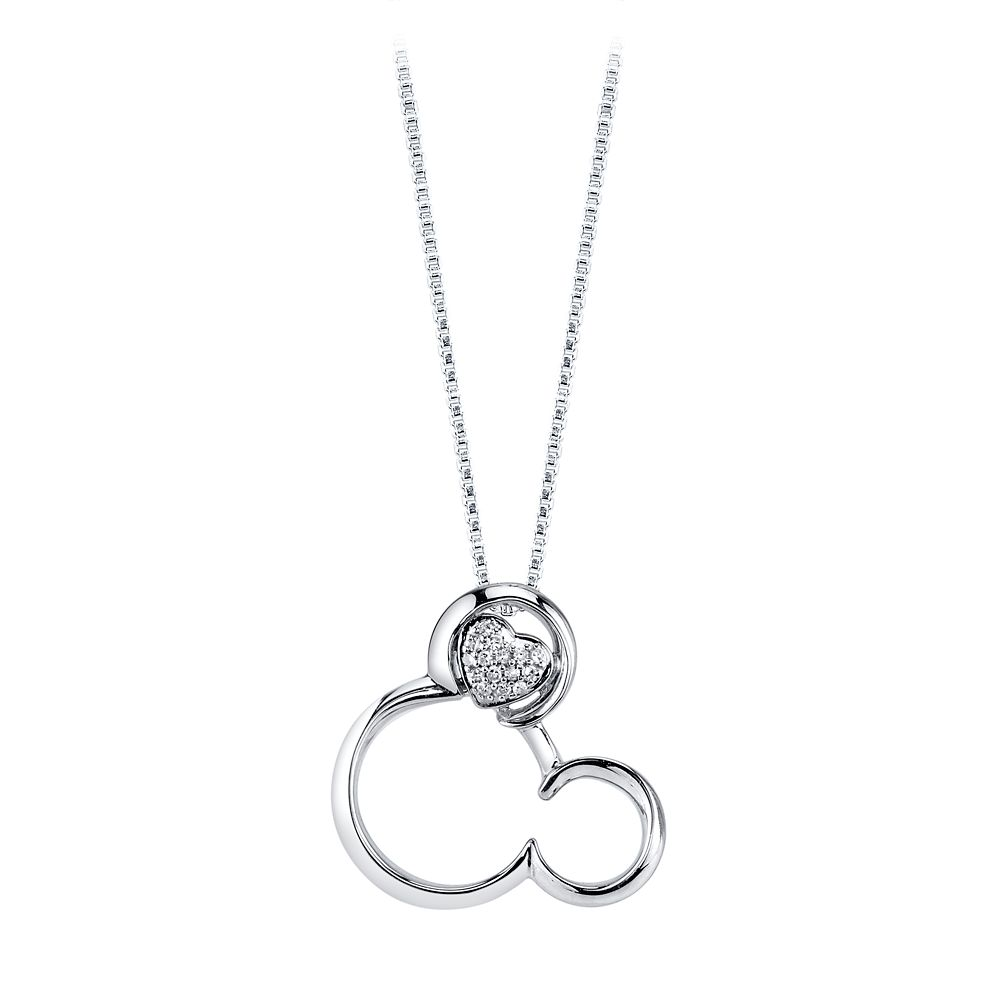 Mickey Mouse Icon Diamond Necklace