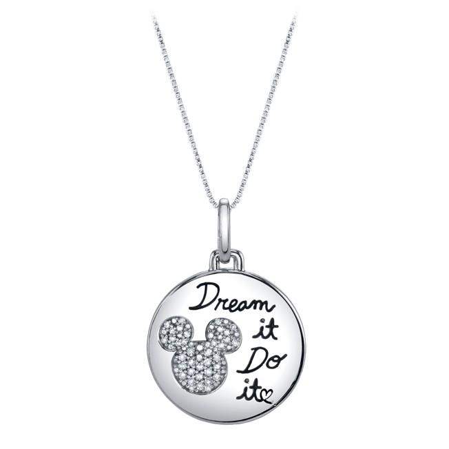 Mickey Mouse ''Dream It, Do It'' Diamond Necklace