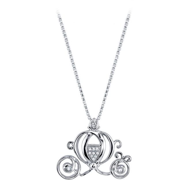 Cinderella Coach Diamond Necklace