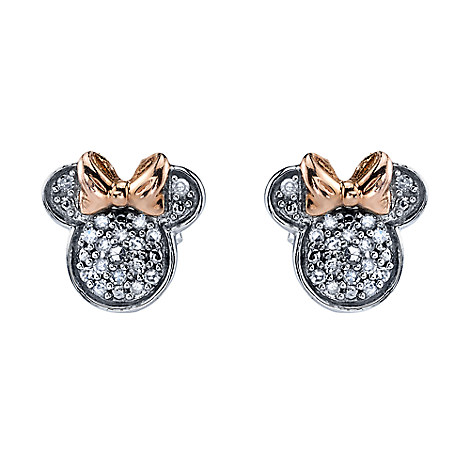 Minnie Mouse Icon Diamond Earrings