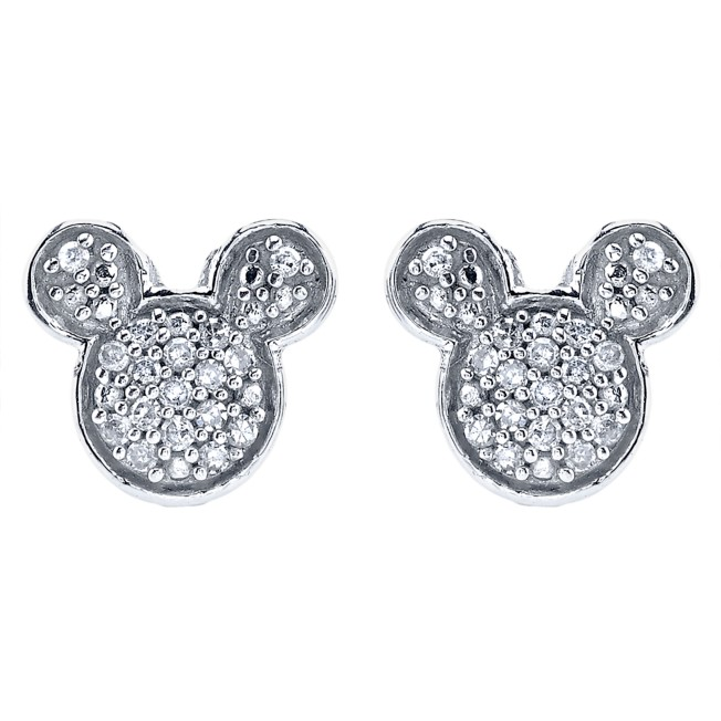 Mickey Mouse Icon Diamond Earrings