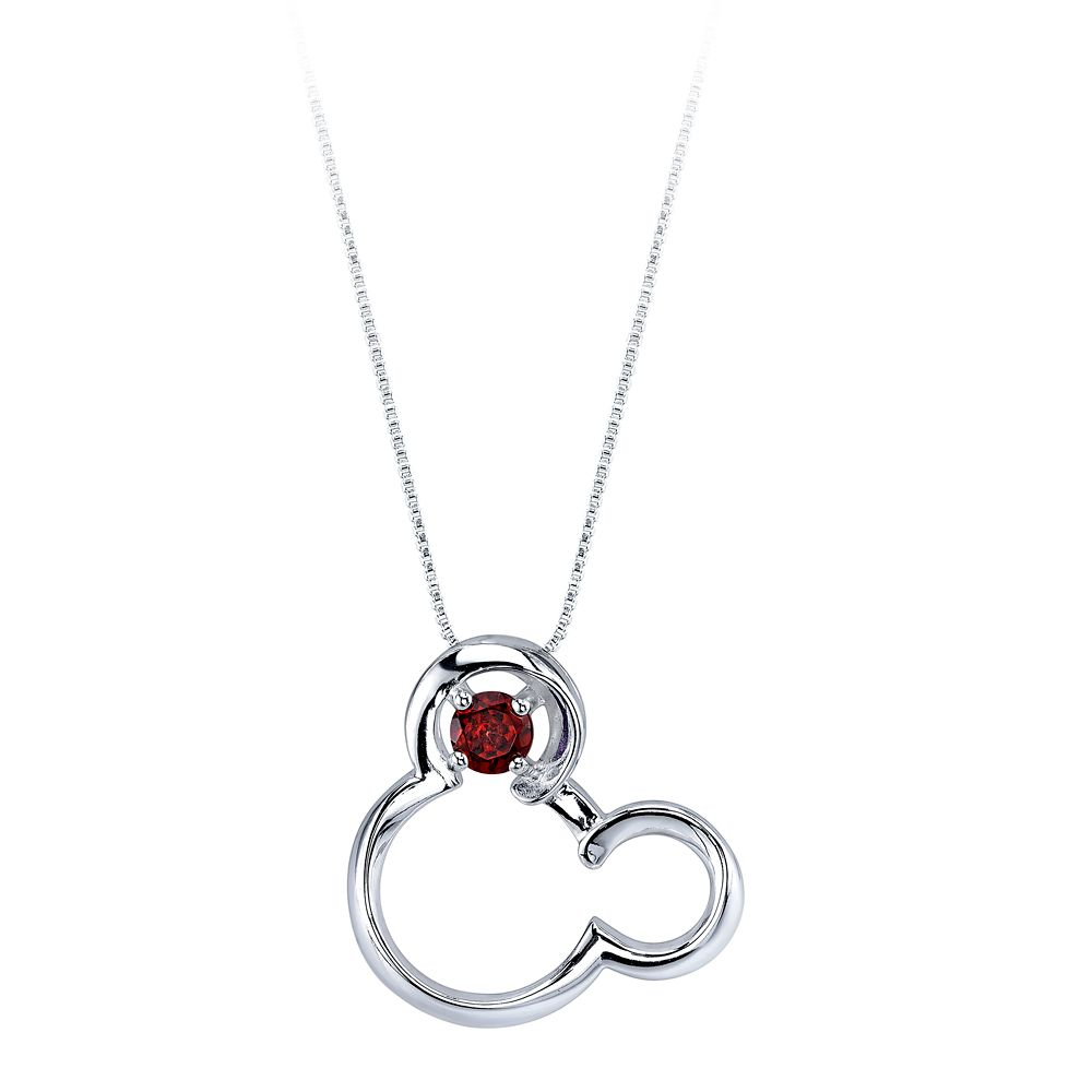 Mickey Mouse January Birthstone Necklace for Women  Garnet Official shopDisney
