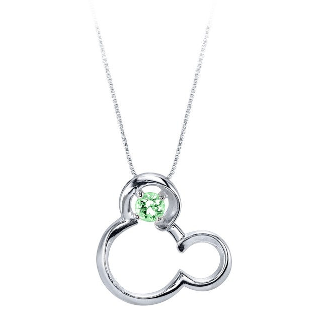 Mickey Mouse August Birthstone Necklace for Women – Peridot